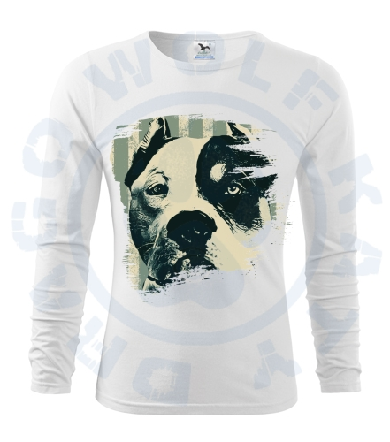 Pánské triko Fit - T Long Sleeve - American Bully retro