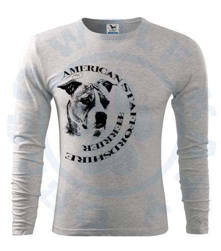 Pánské triko Fit - T Long Sleeve - American Staffordshire Terrier