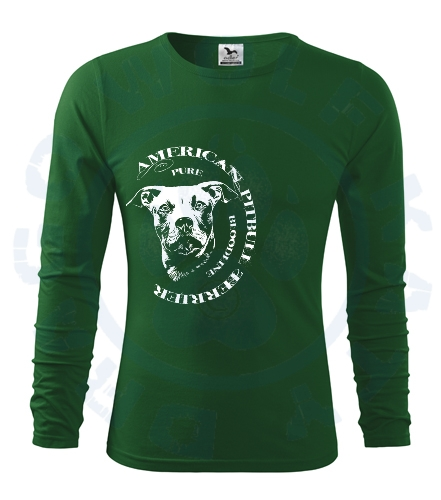 Pánské triko Fit - T Long Sleeve - Pitbull bloodline