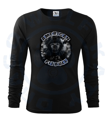 Pánské triko Fit - T Long Sleeve - Pitbull Dark