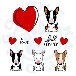 Bullterrier Cartoon